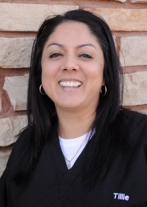 Tillie, lead surgical assistant for periodontist in Chandler, AZ.