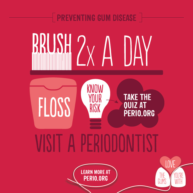 Infographic with advice on brushing and when to see a periodontist in Chandler, AZ.